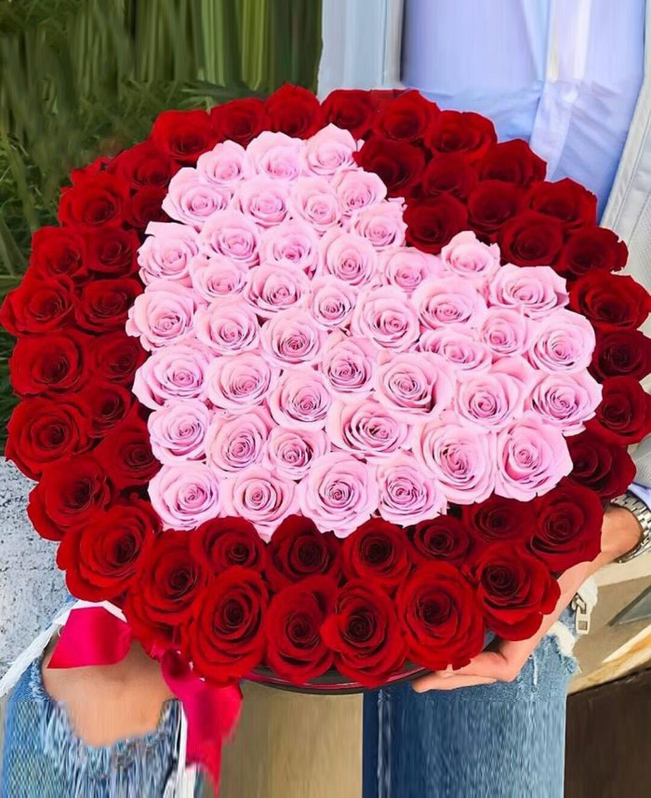 301, самые красивые букеты из роз в форме сердца